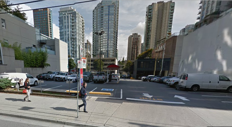 Cheap hourly parking in downtown Vancouver at 834 Seymour