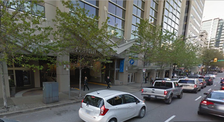 Cheap downtown Vancouver parking at 900 Burrard street