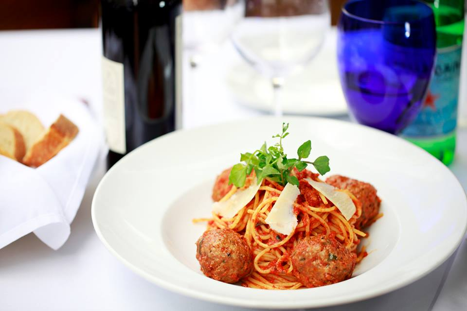 Don Francesco's Italian Restaurant Vancouver BC spaghetti and meatballs