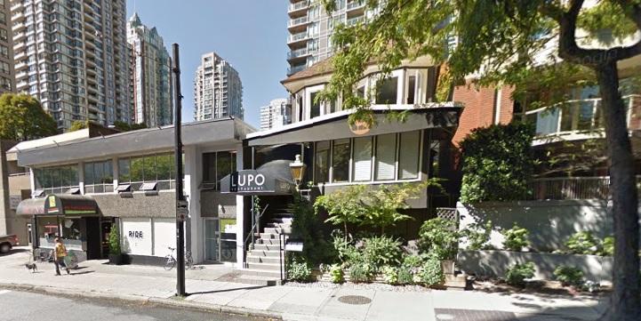 Lupo Vancouver Italian Restaurant Google maps