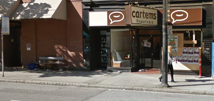 Cartems Donuterie Vancouver exterior.