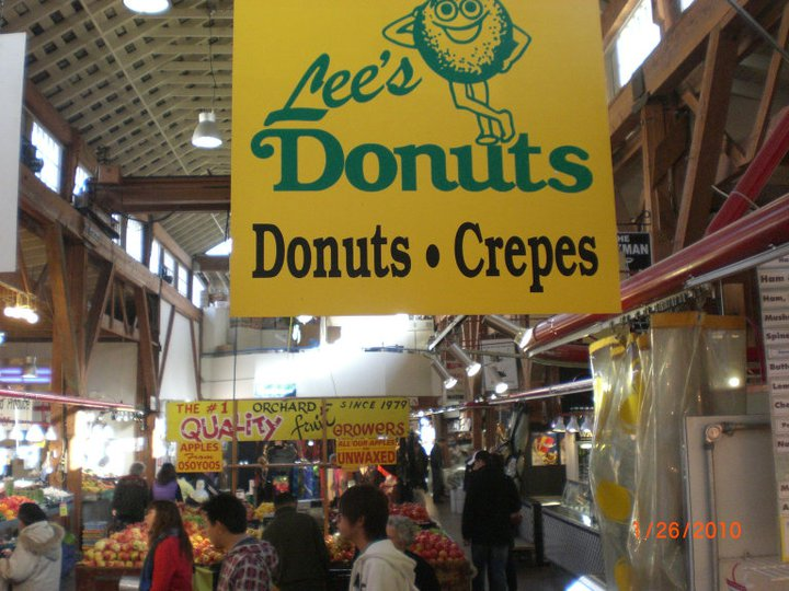 Lee's Donut in Granville Island Market sign