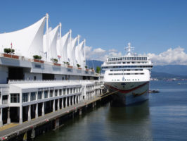 Luxury cruise ship in harbour Vancouver , British Columbia, Canada - Picture of the Day #21