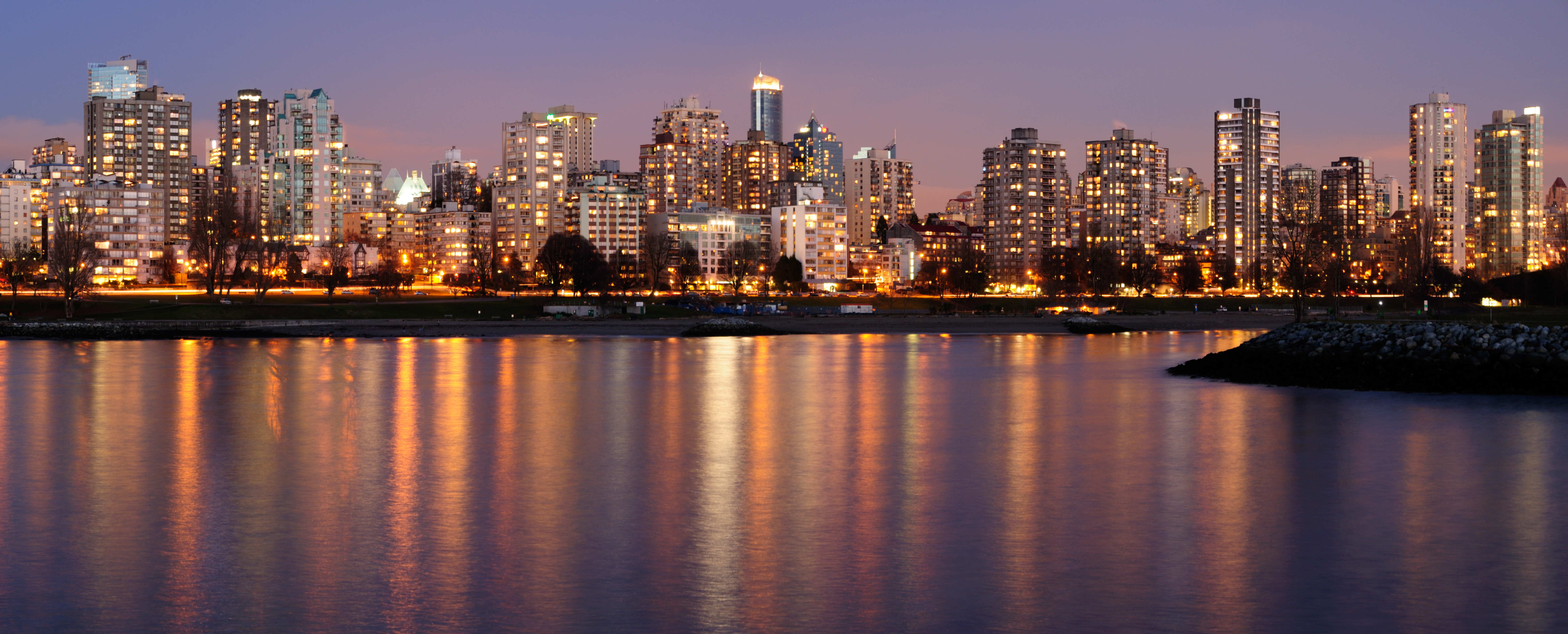 Downtown Vancouver on a winter evening - Picture of the Day #13
