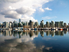 Vancouver Skyline with clouds reflected - Picture of the Day #15