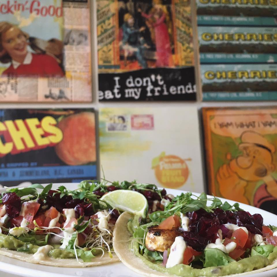 Heirloom Vegetarian vegan tacos in Vancouver, BC